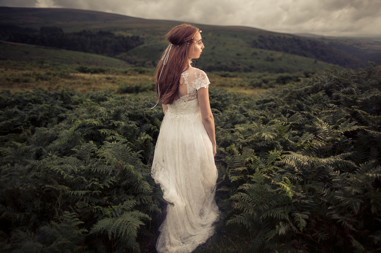 bride on the moors