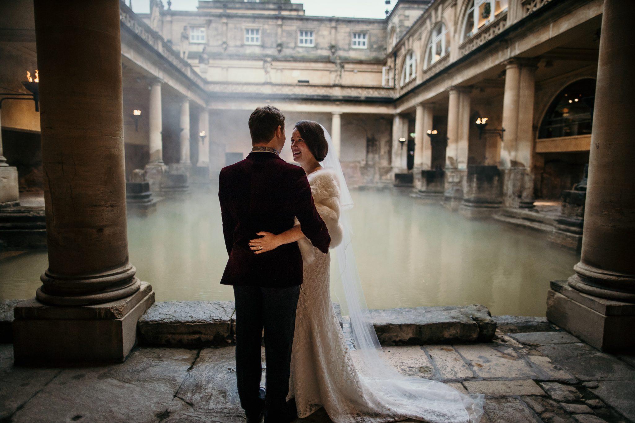 Roman bath wedding