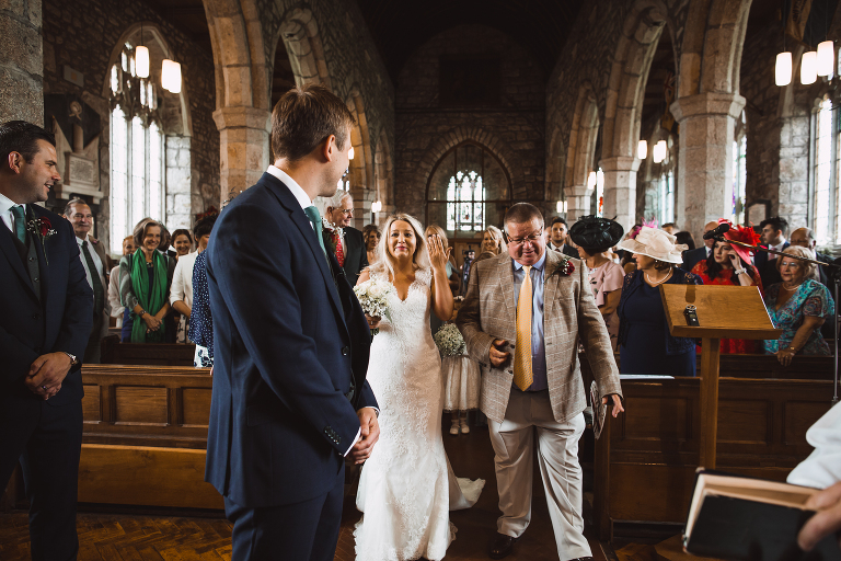 Walking down the aisle, Moretonhampstead church