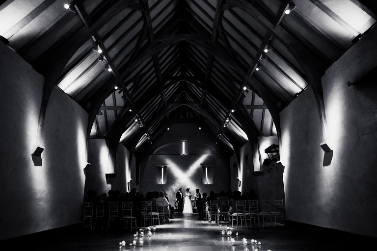 Great barn wedding, Devon