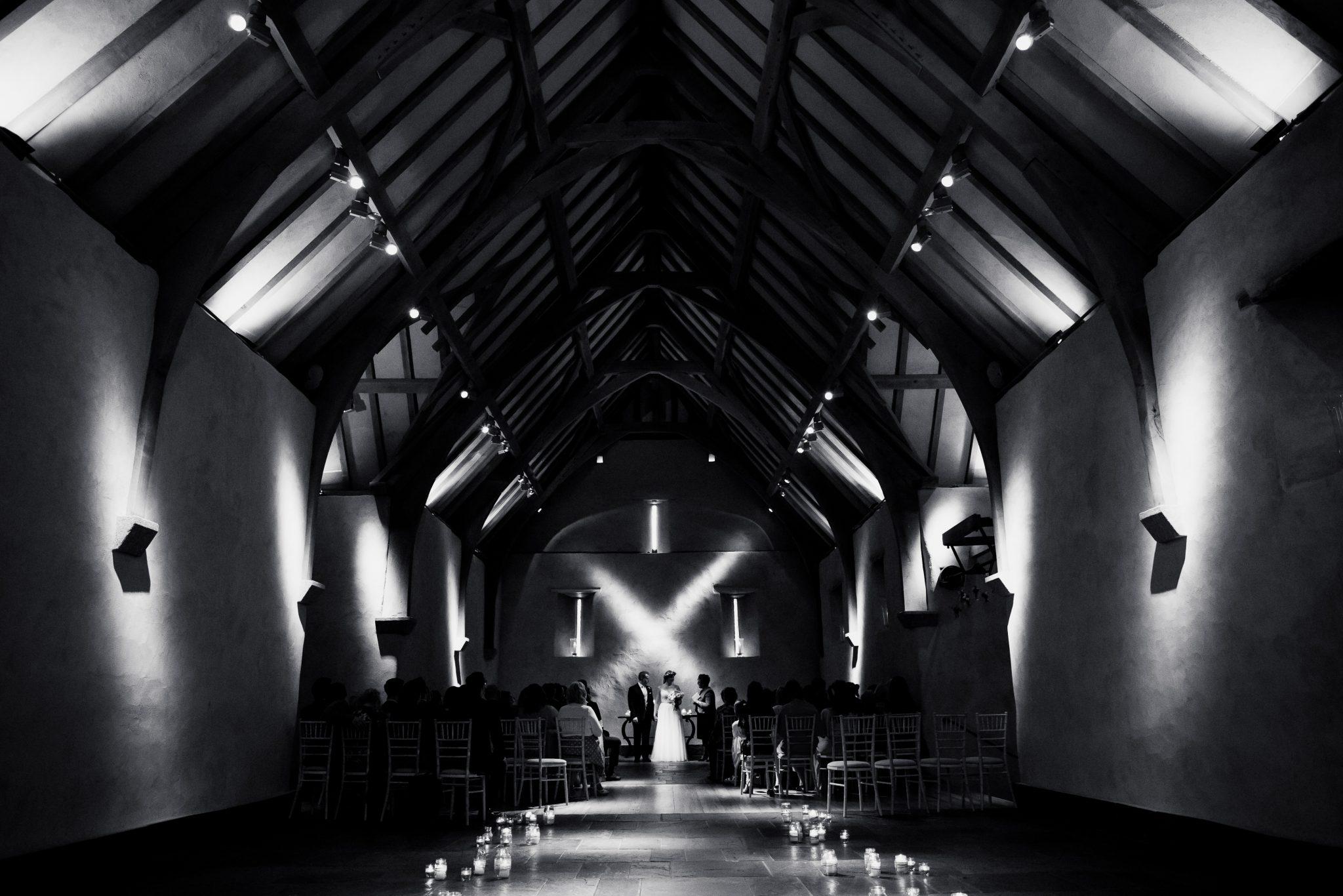 Great barn wedding, Devon
