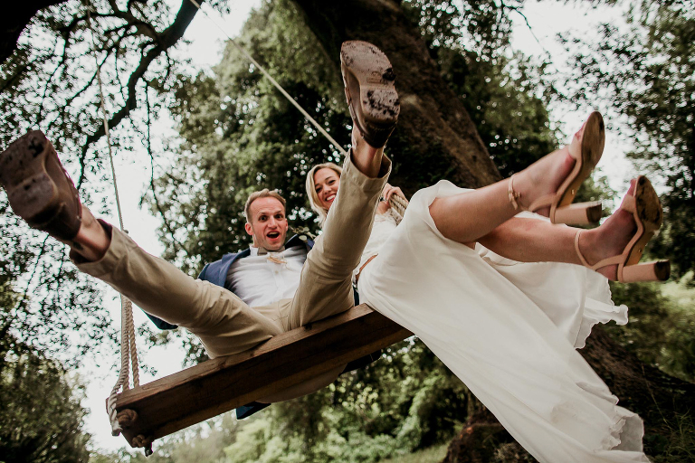couple on swing