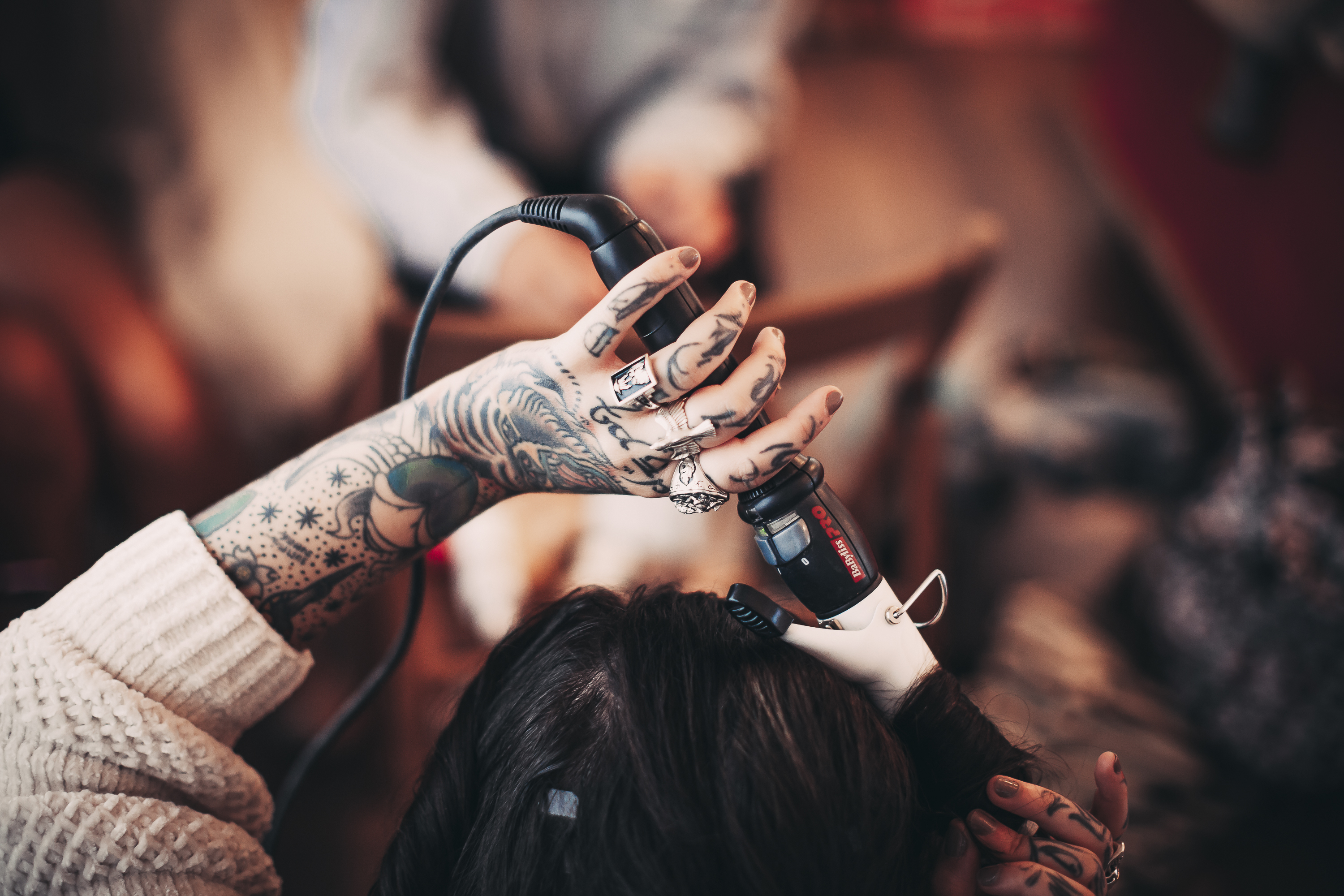 tattoo hands and getting ready
