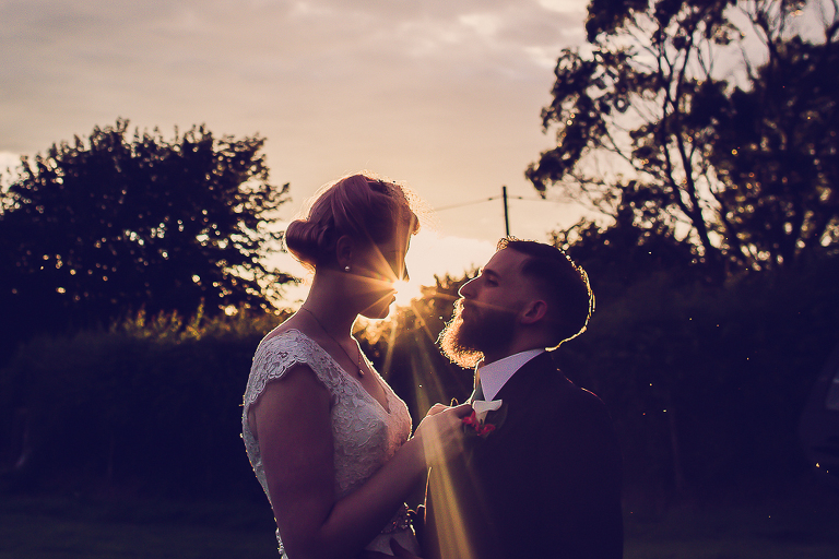 Exmoor summer, sunset, couple, Devon wedding