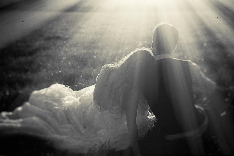 Sunset, Couple portrait, Dartmoor, Devon, Black and White