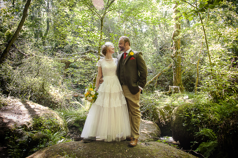 Lustleigh wedding, Devon