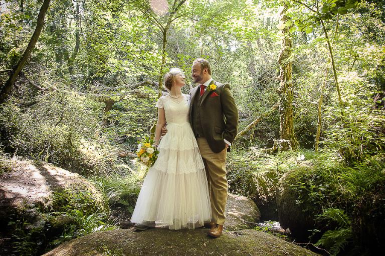 Lustleigh wedding, Devon