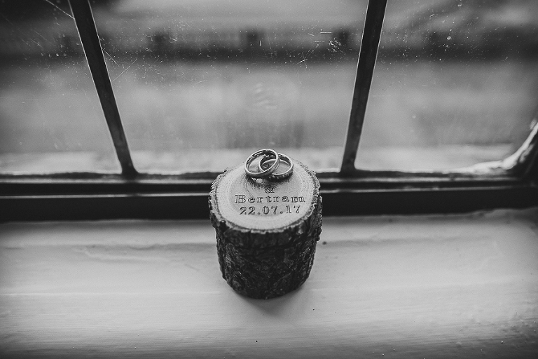 details, rings, black and white