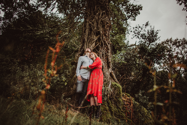 engagement shoot, devon, lustleigh