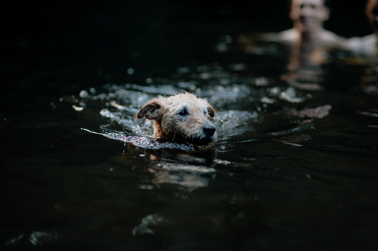 river swim engagement shoot