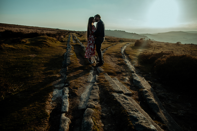 couple on the granite tramway